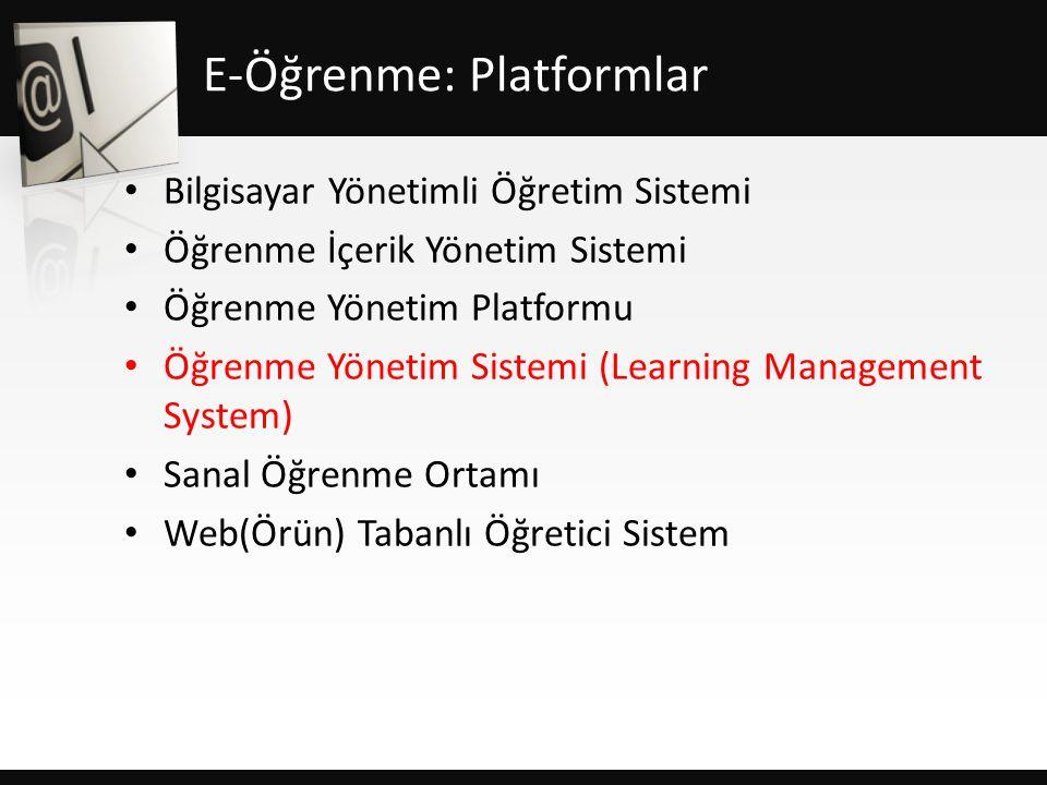 E-Öğrenme: Platformlar