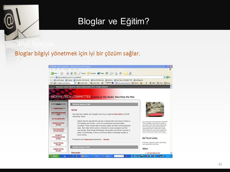 Bloglar ve Eğitim Bilgi-İletişim