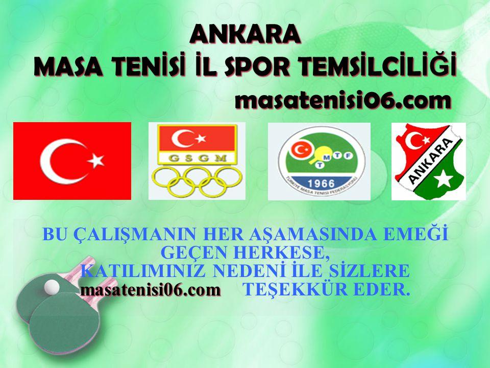 ANKARA MASA TENİSİ İL SPOR TEMSİLCİLİĞİ masatenisi06.com