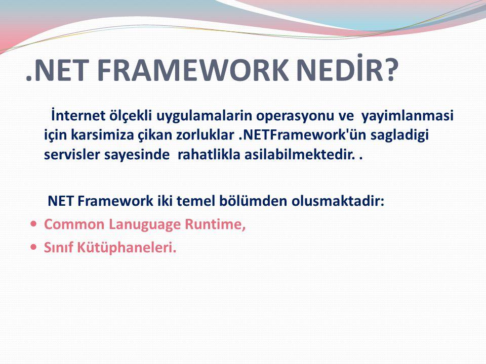 .NET FRAMEWORK NEDİR