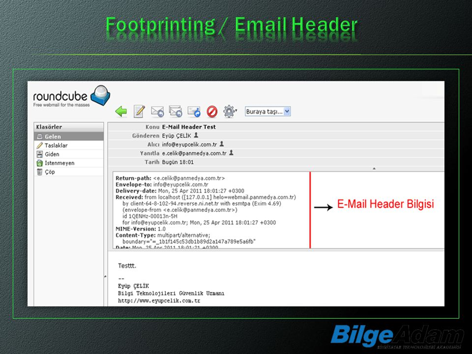 Footprinting / Email Header