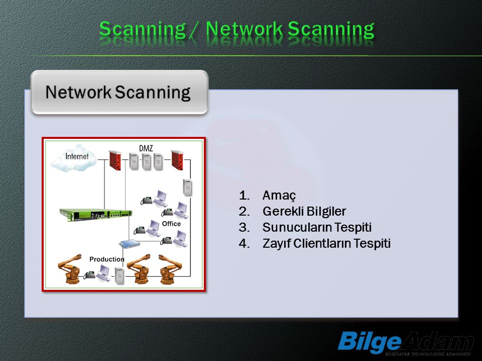 Scanning / Network Scanning