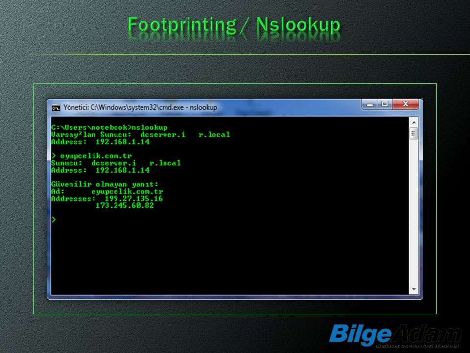 Footprinting / Nslookup