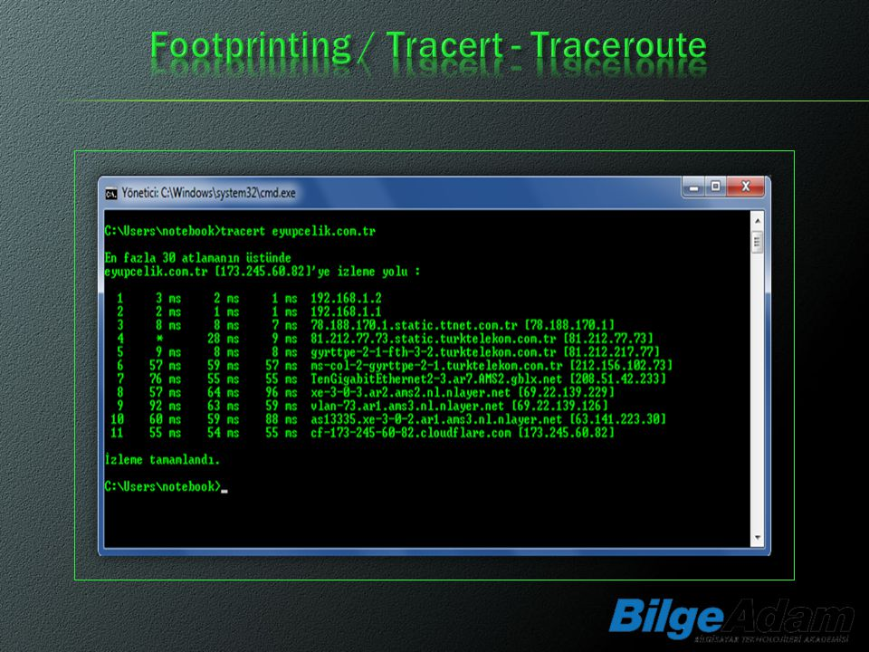Footprinting / Tracert - Traceroute