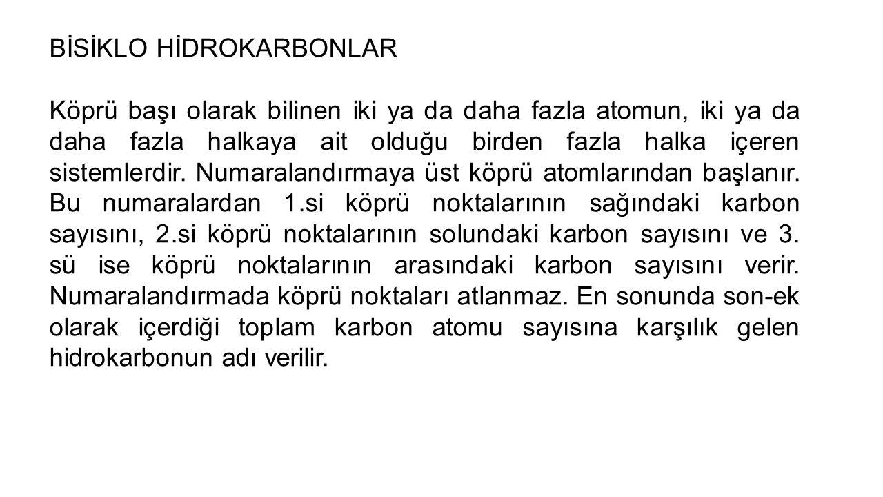 BİSİKLO HİDROKARBONLAR