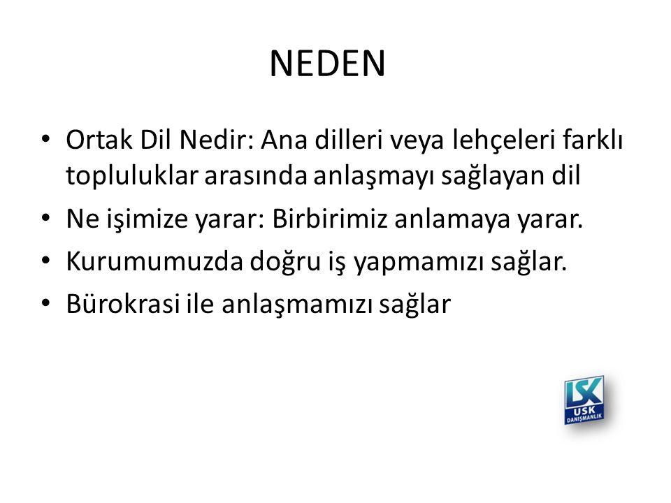 NEDEN Ortak Dil Nedir: Ana dilleri veya lehçeleri farklı topluluklar arasında anlaşmayı sağlayan dil.