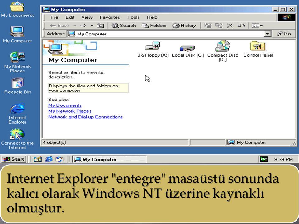 Internet Explorer entegre masaüstü sonunda kalıcı olarak Windows NT üzerine kaynaklı olmuştur.