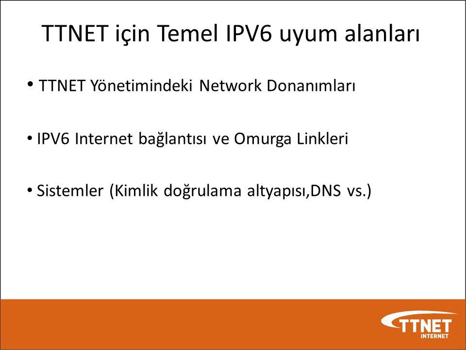 TTNET için Temel IPV6 uyum alanları