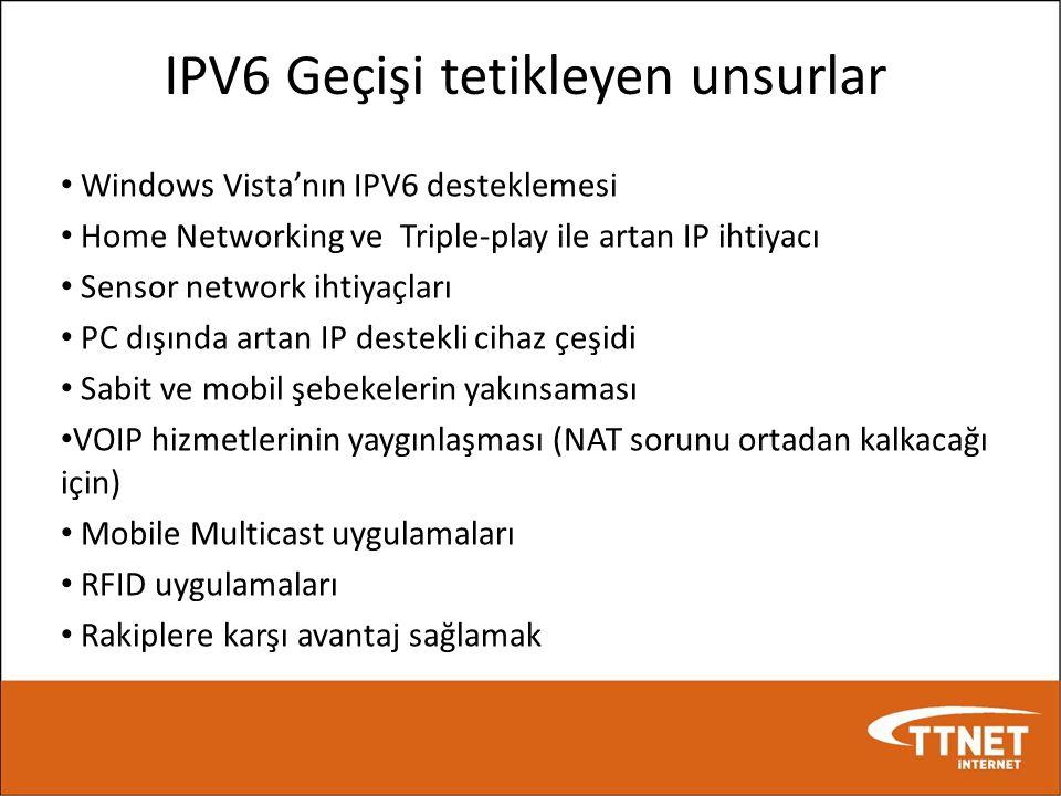 IPV6 Geçişi tetikleyen unsurlar