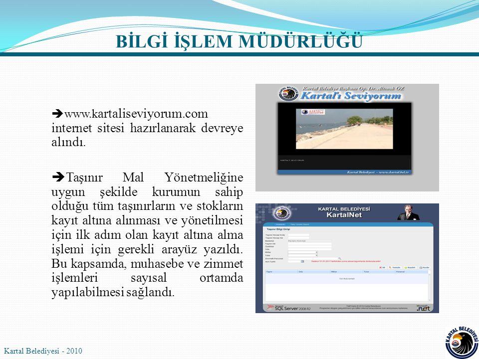 BİLGİ İŞLEM MÜDÜRLÜĞÜ www.kartaliseviyorum.com internet sitesi hazırlanarak devreye alındı.