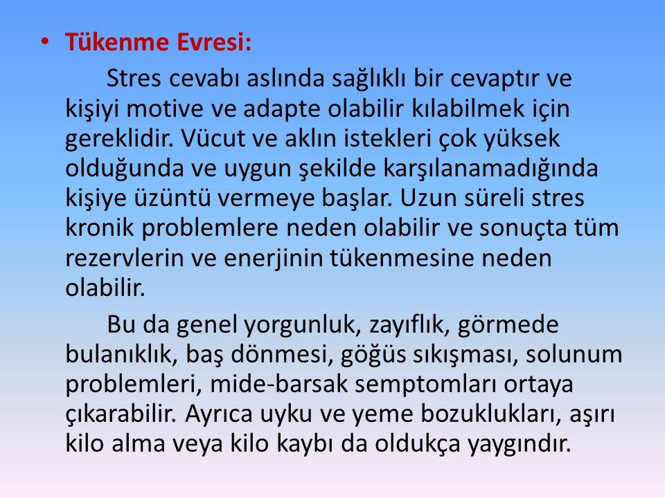 Tükenme Evresi: