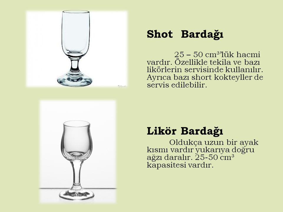 Shot Bardağı Likör Bardağı