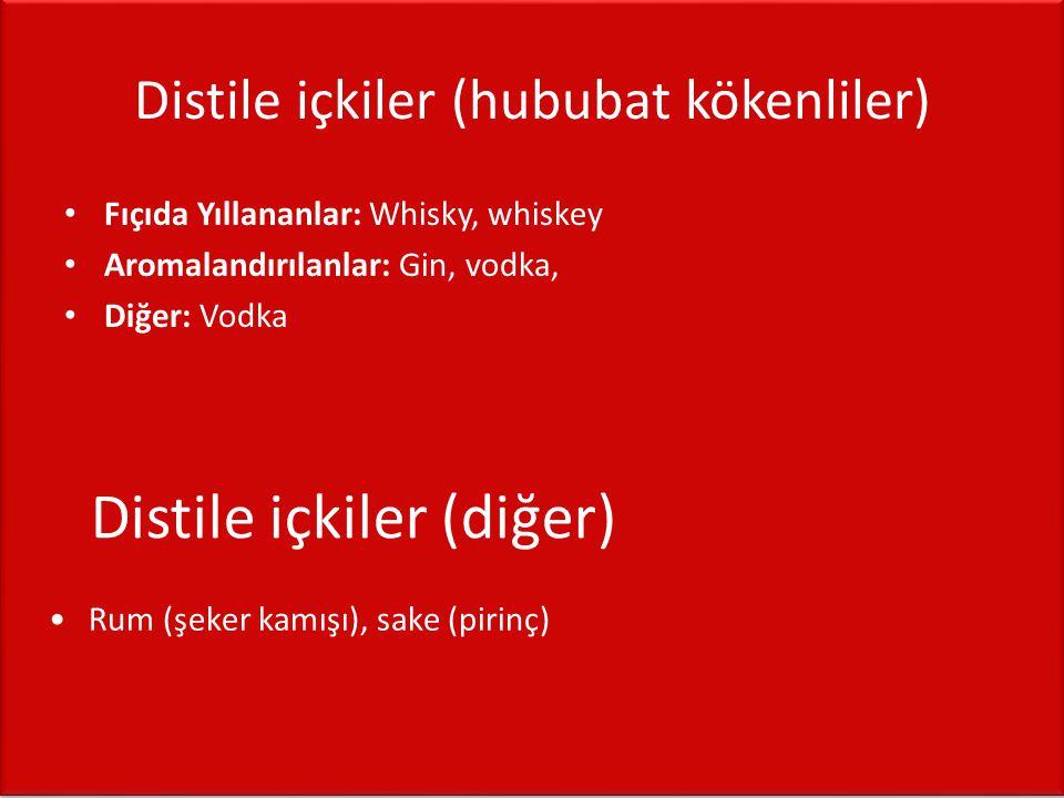Distile içkiler (hububat kökenliler)