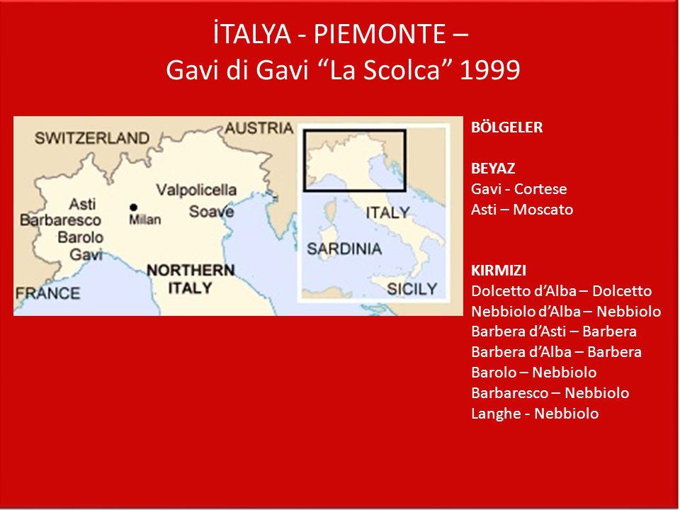 İTALYA - PIEMONTE – Gavi di Gavi La Scolca 1999