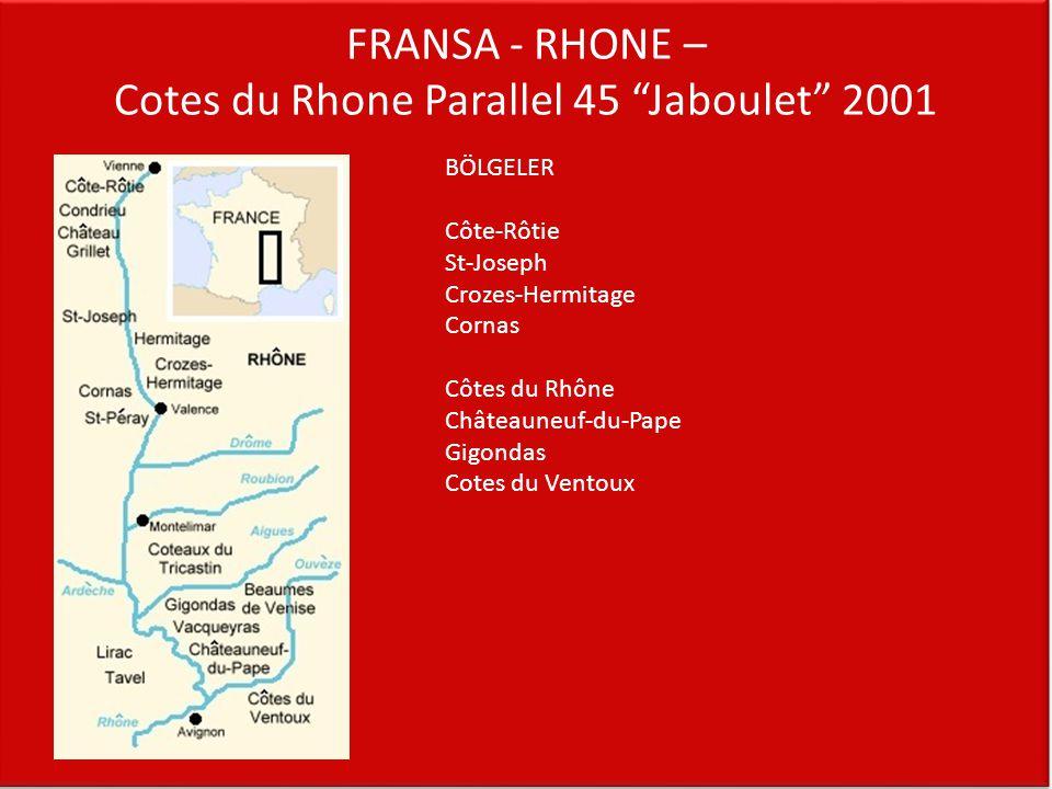FRANSA - RHONE – Cotes du Rhone Parallel 45 Jaboulet 2001