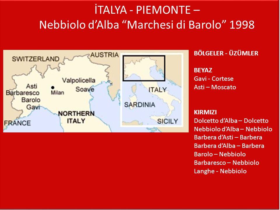 İTALYA - PIEMONTE – Nebbiolo d'Alba Marchesi di Barolo 1998