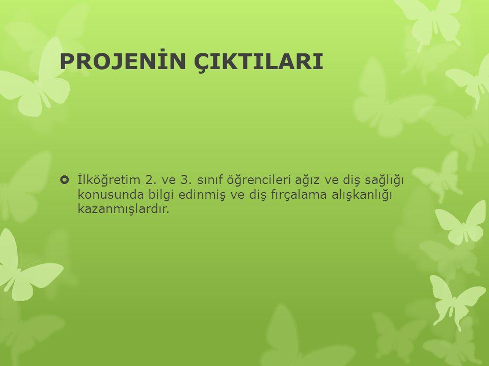 PROJENİN ÇIKTILARI İlköğretim 2. ve 3.