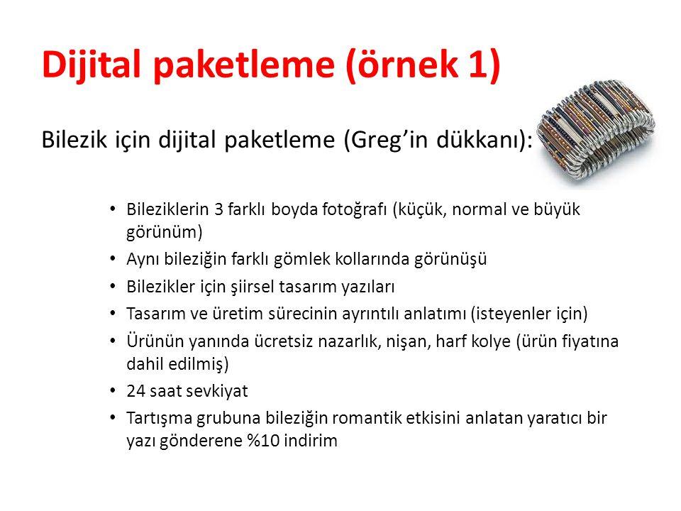 Dijital paketleme (örnek 1)