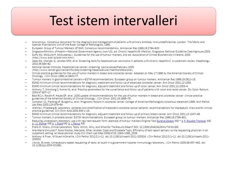 Test istem intervalleri