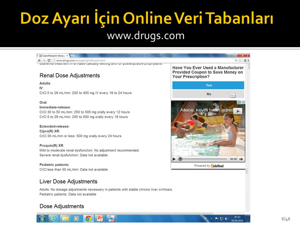 Doz Ayarı İçin Online Veri Tabanları