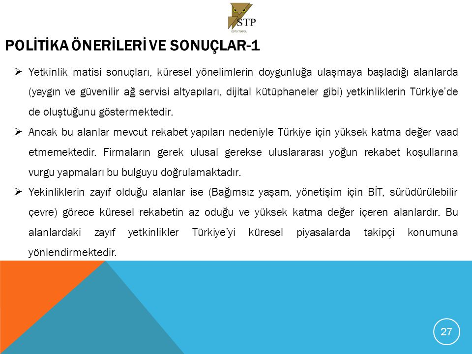 POLİTİKA ÖNERİLERİ VE SONUÇLAR-1