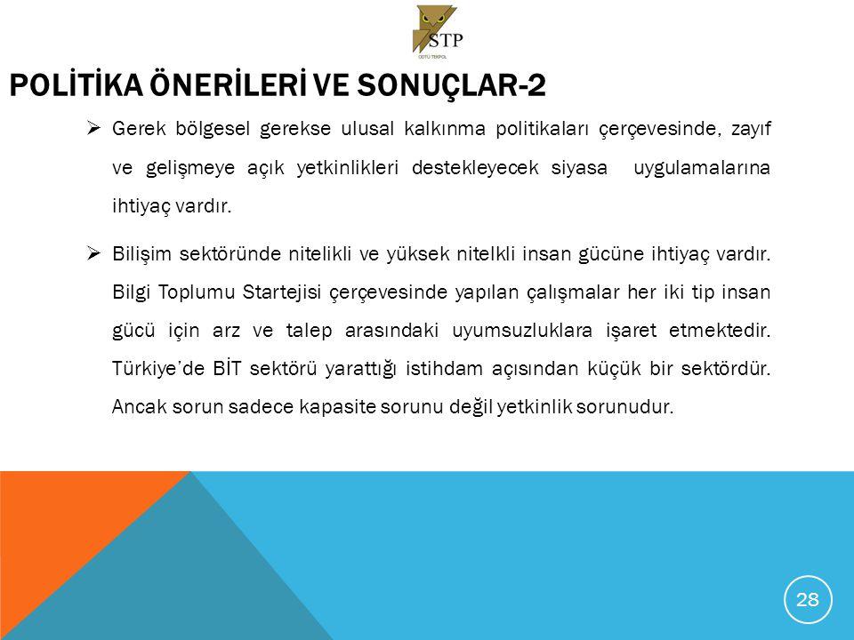 POLİTİKA ÖNERİLERİ VE SONUÇLAR-2