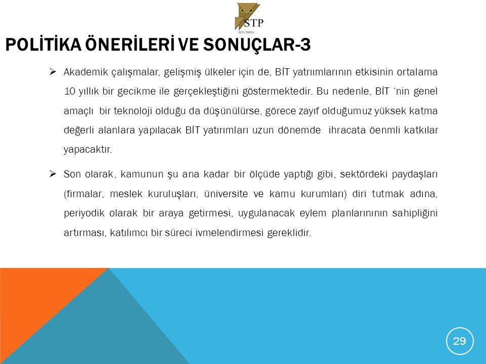 POLİTİKA ÖNERİLERİ VE SONUÇLAR-3