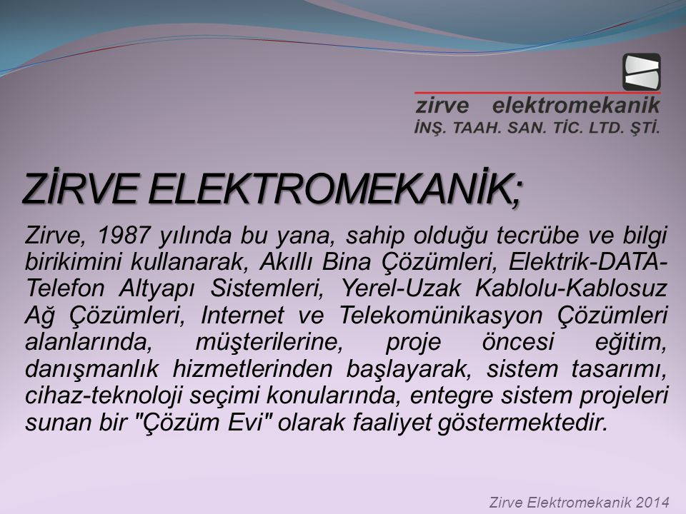 ZİRVE ELEKTROMEKANİK;