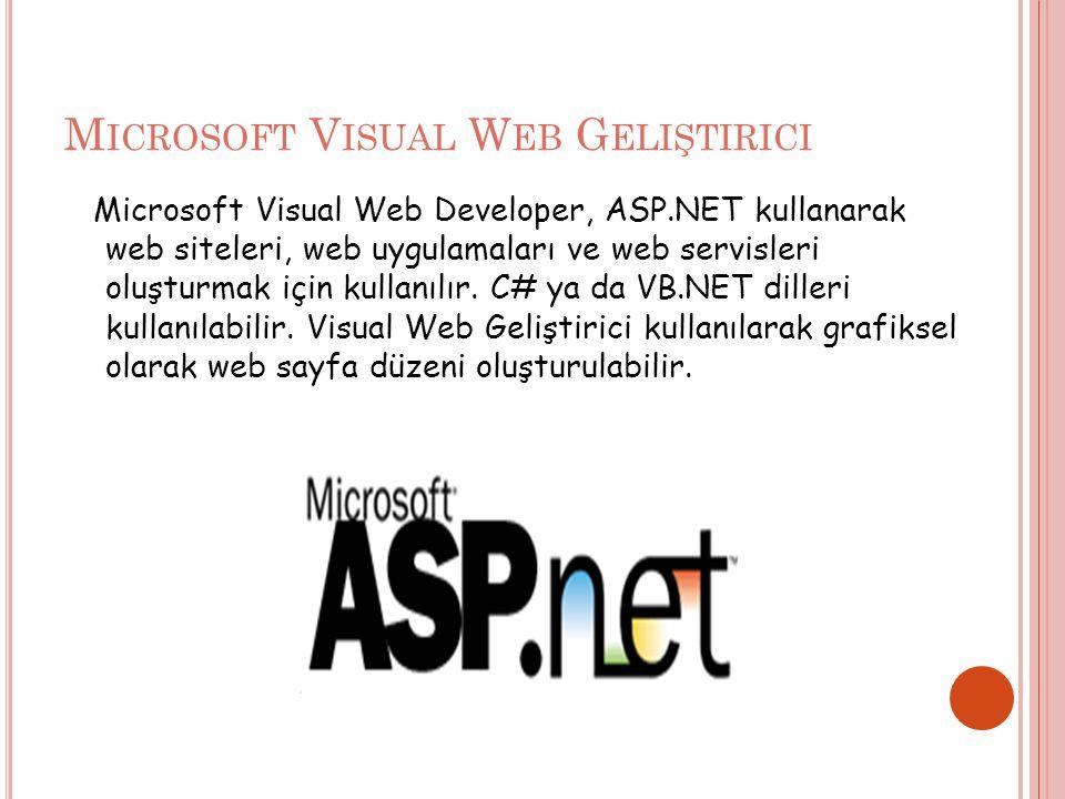 Microsoft Visual Web Geliştirici