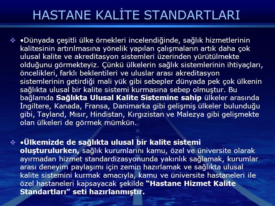 HASTANE KALİTE STANDARTLARI