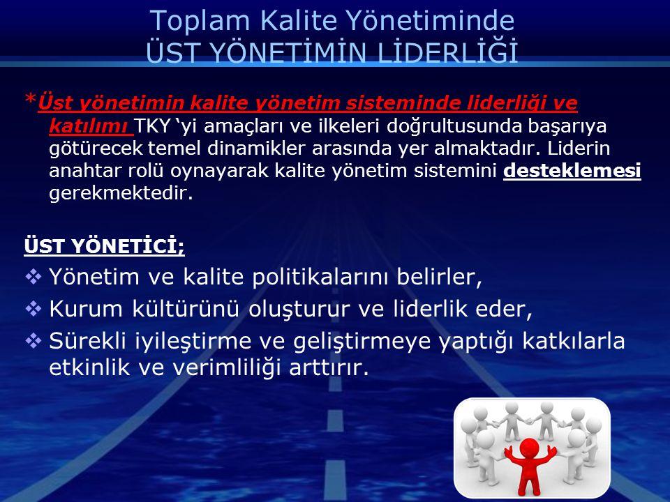 Toplam Kalite Yönetiminde ÜST YÖNETİMİN LİDERLİĞİ