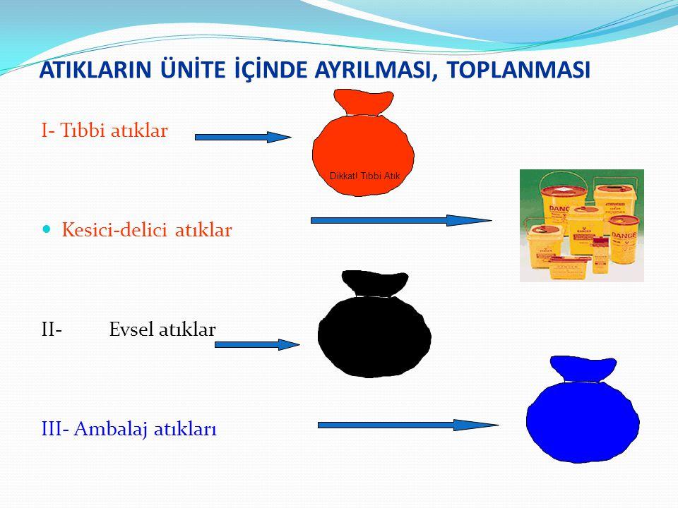 ATIKLARIN ÜNİTE İÇİNDE AYRILMASI, TOPLANMASI