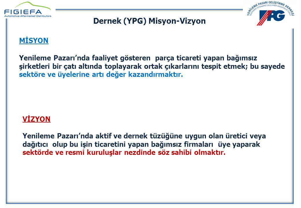 Dernek (YPG) Misyon-Vizyon