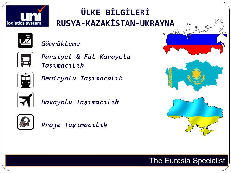 ÜLKE BİLGİLERİ RUSYA-KAZAKİSTAN-UKRAYNA