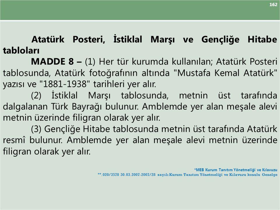 Atatürk Posteri, İstiklal Marşı ve Gençliğe Hitabe tabloları
