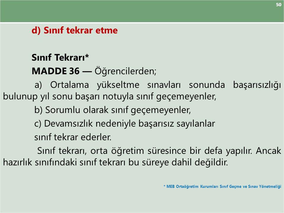 MADDE 36 — Öğrencilerden;