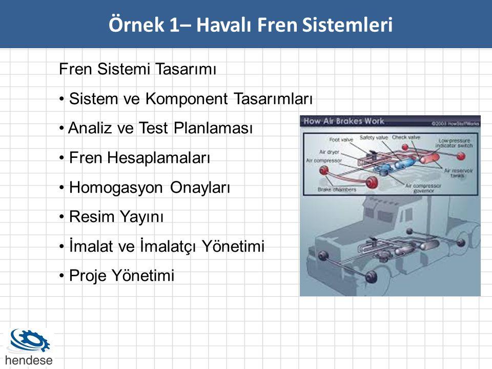 Örnek 1– Havalı Fren Sistemleri