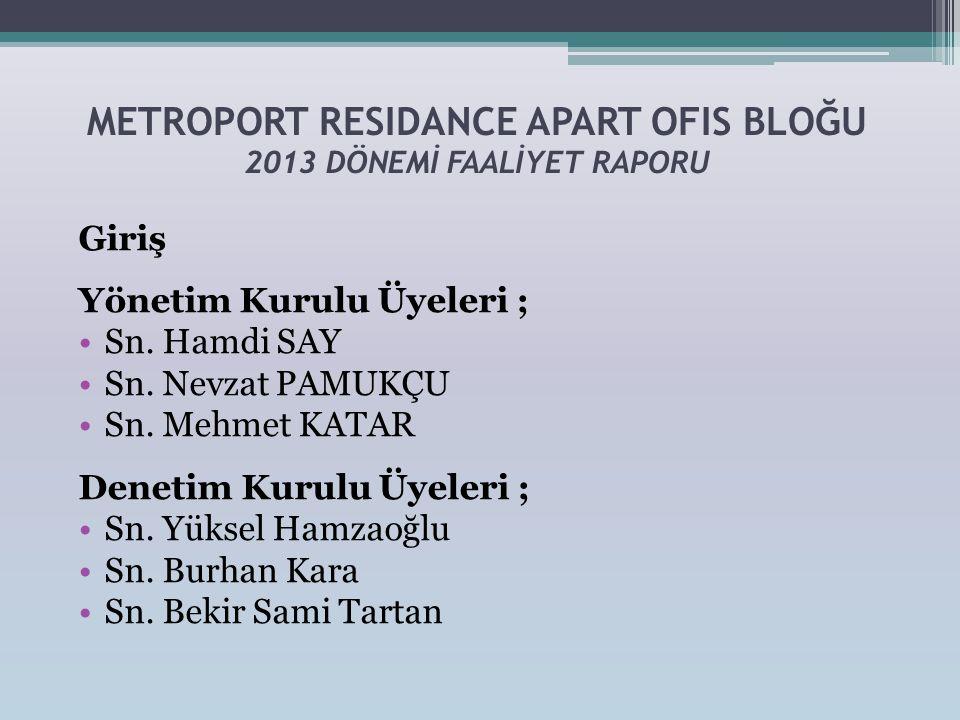 METROPORT RESIDANCE APART OFIS BLOĞU 2013 DÖNEMİ FAALİYET RAPORU