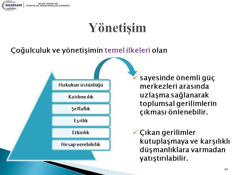 Yönetişim Çoğulculuk ve yönetişimin temel ilkeleri olan
