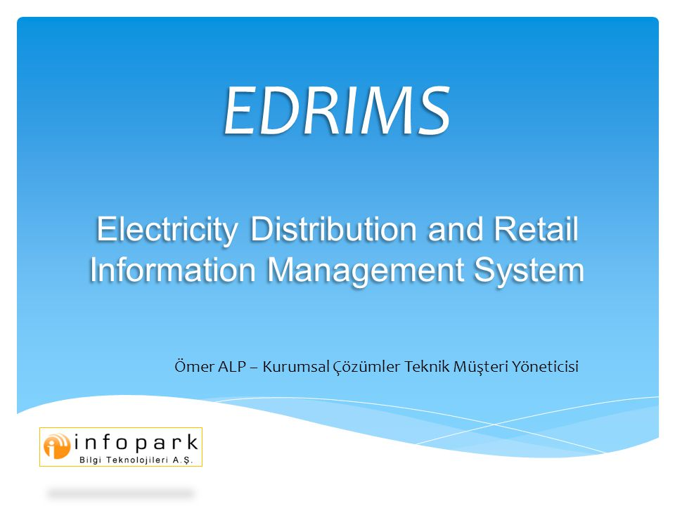 EDRIMS Electricity Distribution and Retail Information Management System