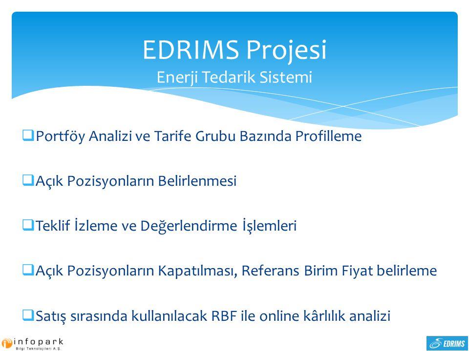 EDRIMS Projesi Enerji Tedarik Sistemi