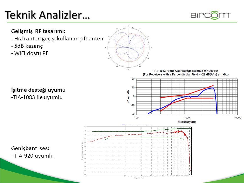 Teknik Analizler… Gelişmiş RF tasarımı: