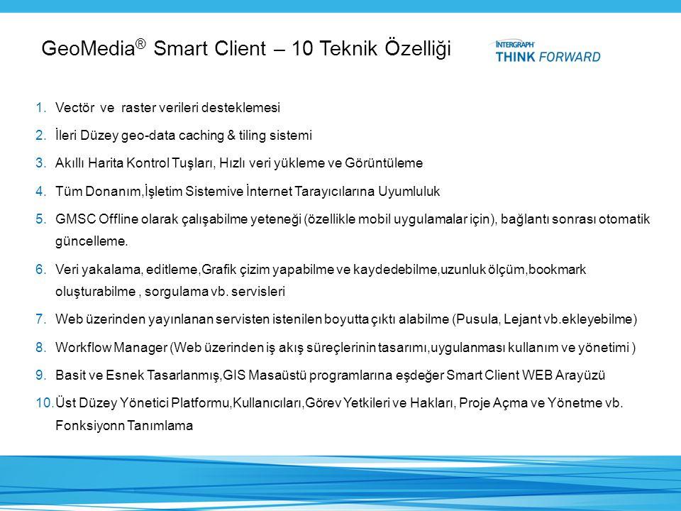GeoMedia® Smart Client – 10 Teknik Özelliği
