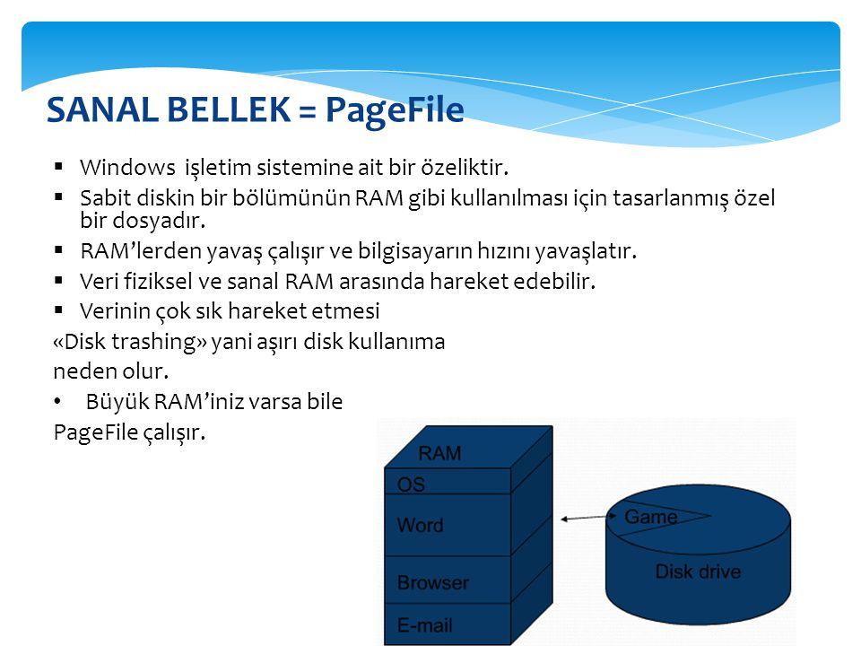 SANAL BELLEK = PageFile