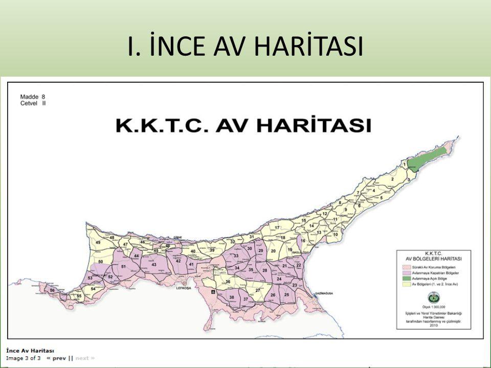 I. İNCE AV HARİTASI