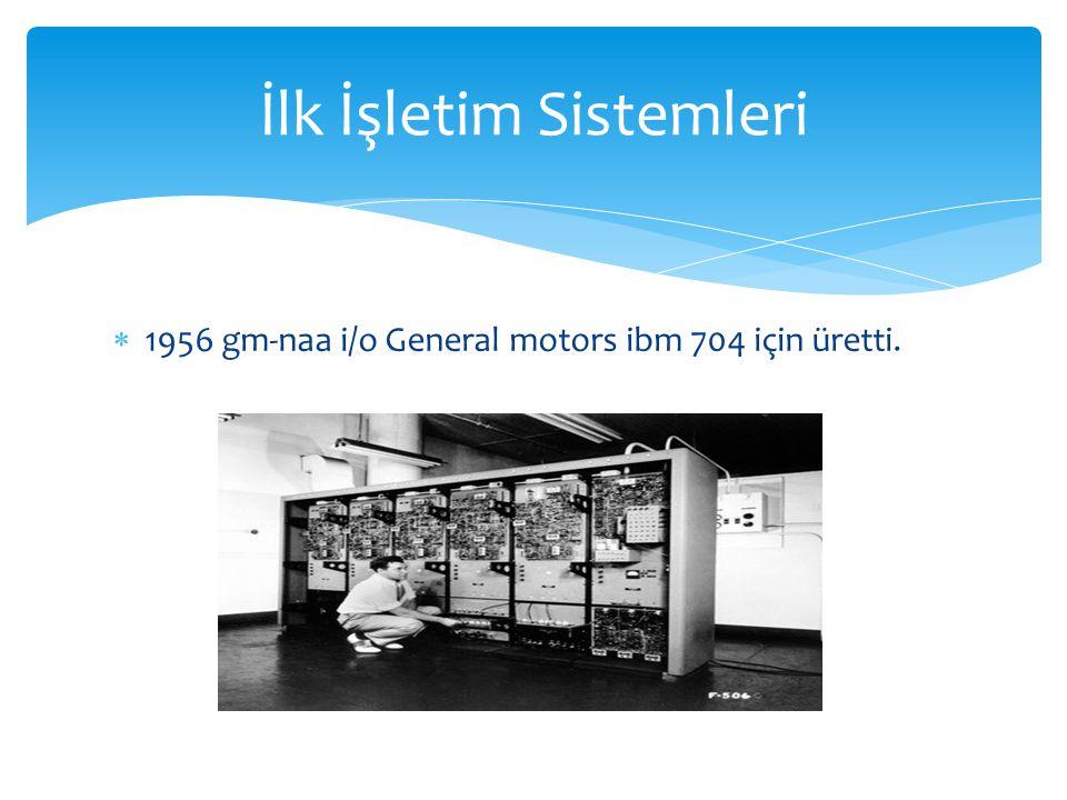 İlk İşletim Sistemleri