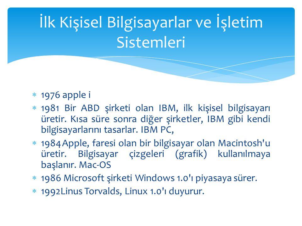 İlk Kişisel Bilgisayarlar ve İşletim Sistemleri