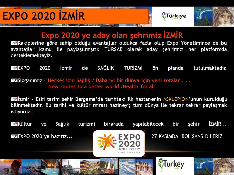EXPO 2020 İZMİR Expo 2020 ye aday olan şehrimiz İZMİR