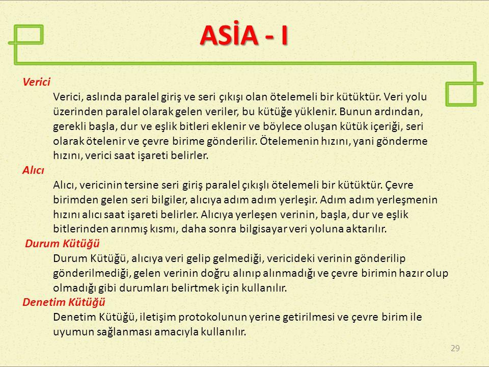 ASİA - I Verici.
