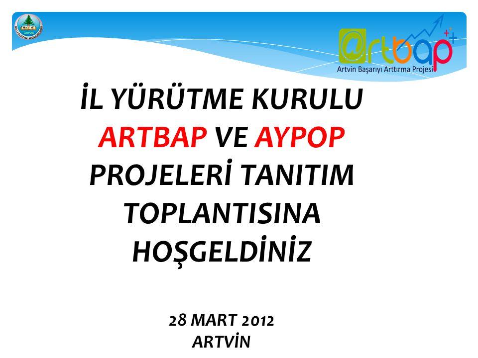 ARTBAP VE AYPOP PROJELERİ TANITIM TOPLANTISINA